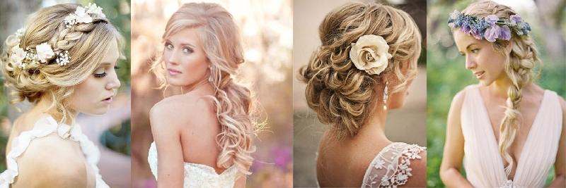 Модные прически для девушек на свадьбу